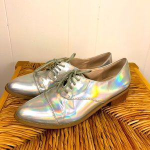 Holographic Patent Leather Classic Oxford Shoes